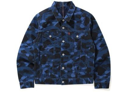 Bape x Levi's Color Camo Trucker Jacket (Asia Exclusive) Blue (SS21)の写真