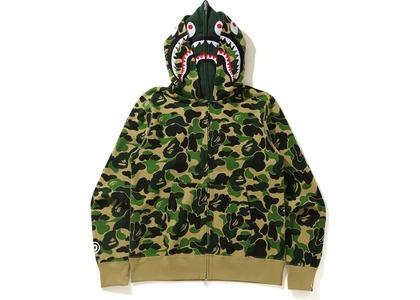 Bape Big ABC Camo Shark Wide Full Zip Double Hoodie Green (SS21)の写真