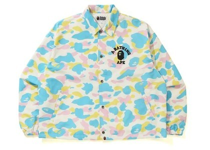 Bape New Multi Camo Relaxed Coach Jacket White (SS21)の写真