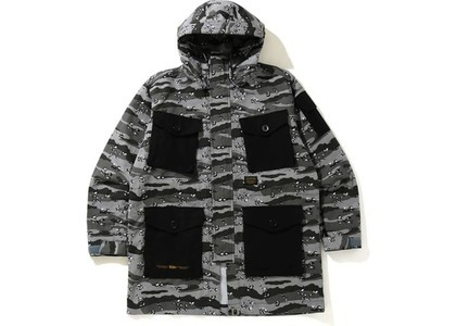 Bape Desert Camo Loose Fit Military Jacket Black (SS21)の写真