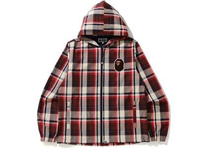 Bape Check Hoodie Jacket Red (SS21)の写真