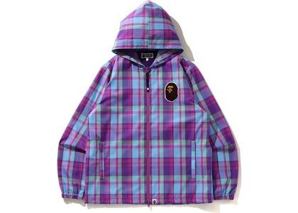 Bape Check Hoodie Jacket Purple (SS21)の写真