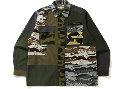 Bape Crazy Camo Relaxed Military Shirt Multi (SS21)の写真