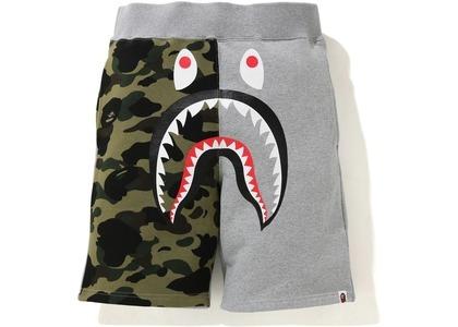 Bape Shark Sweat Shorts Gray Camo (SS21)の写真