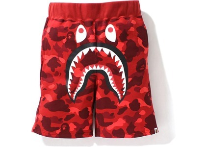 Bape Color Camo Shark Sweat Shorts Red (SS21)の写真