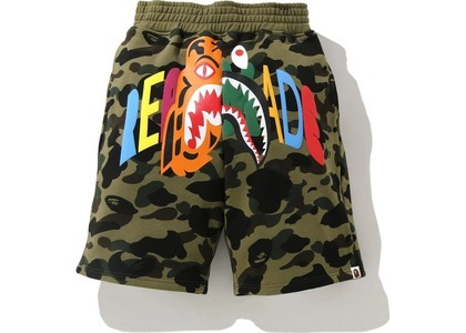 Bape x Readymade Tiger Shark Wide Sweat Shorts Green (SS21)の写真
