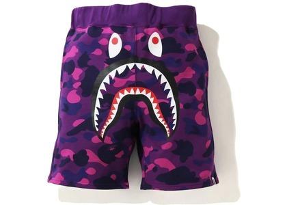 Bape Color Camo Shark Sweat Shorts Purple (SS21)の写真