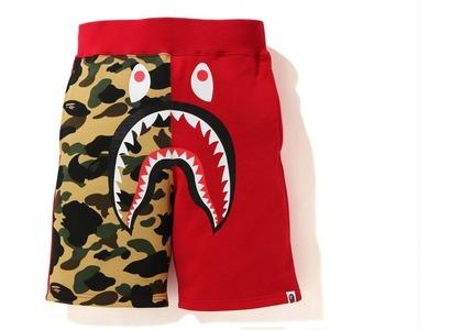 Bape Shark Sweat Shorts Red Camo (SS21)の写真