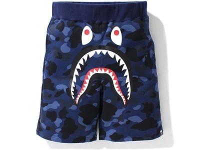 Bape Color Camo Shark Sweat Shorts Navy (SS21)の写真