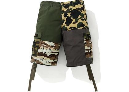 Bape Crazy Camo 6 Pocket Wide Shorts Multi (SS21)の写真