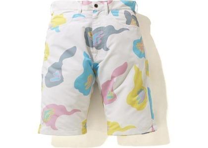 Bape Def Camo Wide Shorts White (SS21)の写真