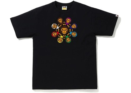 BAPE Milo Circle Tee Black (SS21)の写真