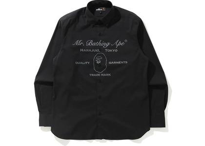 BAPE Ape Head Wide Stretch Shirt Black (SS21)の写真