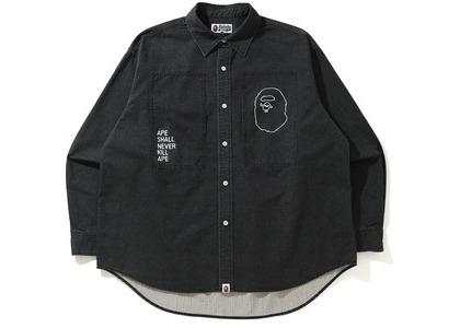BAPE Loose Fit Ripstop Shirt Black (SS21)の写真