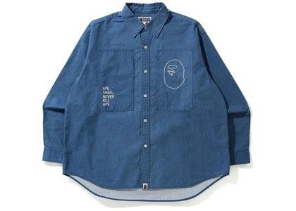 BAPE Loose Fit Ripstop Shirt Light Indigo (SS21)の写真
