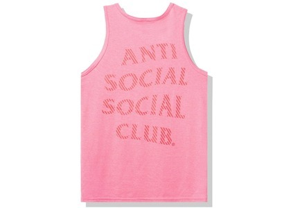 Anti Social Social Club Goodbye Summer Tank Tank Pink (FW20)の写真