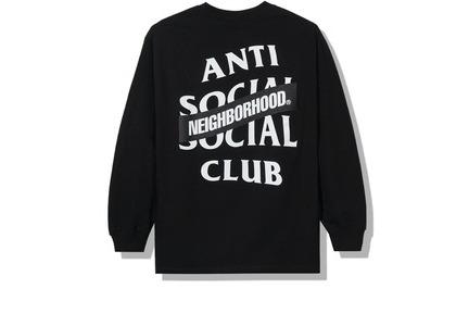 Anti Social Social Club x Neighborhood AW05 Black Long Sleeve Tee Longsleeve Tee Black (FW20)の写真