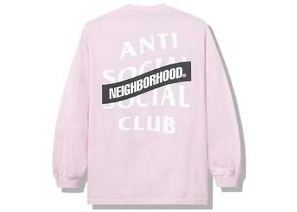 Anti Social Social Club x Neighborhood AW05 Pink Long Sleeve Tee Longsleeve Tee Pink (FW20)の写真