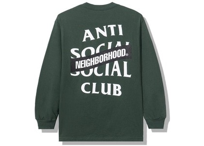 Anti Social Social Club x Neighborhood AW05 Green Long Sleeve Tee Longsleeve Tee Green (FW20)の写真