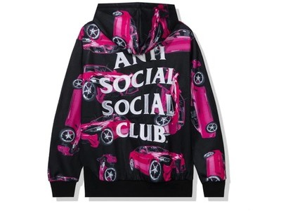 Anti Social Social Club 3AM On Melrose All Over Hoodie Black/Pink (FW20)の写真