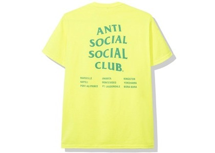 Anti Social Social Club Club Med Tee Neon Green (SS20)の写真