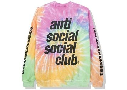 Anti Social Social Club Rotterdam Long Sleeve Tee Rainbow Tie Dye (SS20)の写真