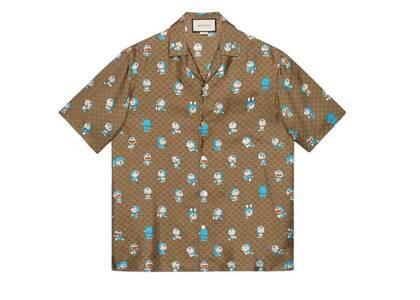 Doraemon x GUCCI GG Bowling shirt Beigeの写真