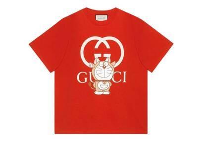 Doraemon x GUCCI Oversize T-shirt Redの写真
