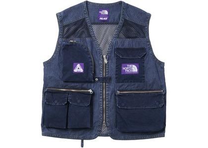 TNF × Palace Purple Label Indigo Ripstop Mesh Vest Indigo (SS21)の写真