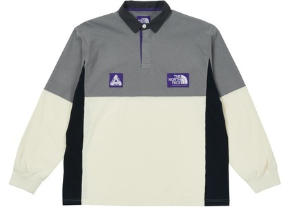 TNF × Palace Purple Label High Bulky Rugby Shirt Grey (SS21)の写真
