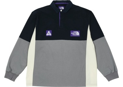 TNF × Palace Purple Label High Bulky Rugby Shirt Navy (SS21)の写真
