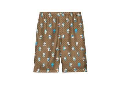 Doraemon x GUCCI GG Silk Shorts Beigeの写真