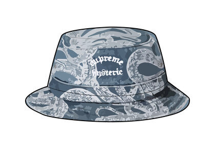 Supreme HYSTERIC GLAMOUR Snake Denim Crusher Blue  (SS21)の写真