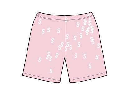 Supreme Embroidered S Sweatshort Light Pink  (SS21)の写真