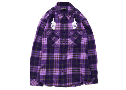 Supreme HYSTERIC GLAMOUR Plaid Flannel Shirt Purple  (SS21)の写真