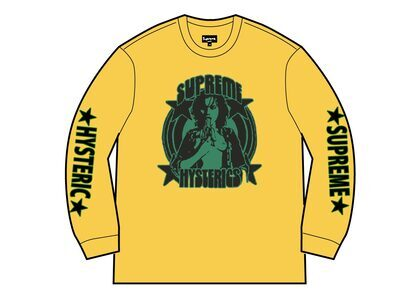 Supreme HYSTERIC GLAMOUR L/S Tee Yellow  (SS21)の写真