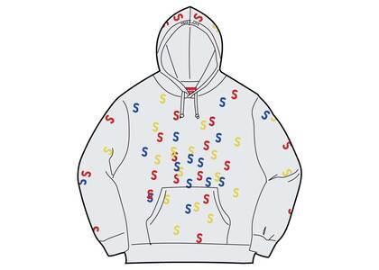 Supreme Embroidered S Hooded Sweatshirt Ash Grey  (SS21)の写真