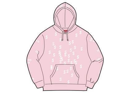 Supreme Embroidered S Hooded Sweatshirt Light Pink  (SS21)の写真