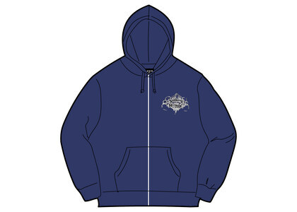 Supreme HYSTERIC GLAMOUR Zip Up Hooded Sweatshirt Washed Navy  (SS21)の写真