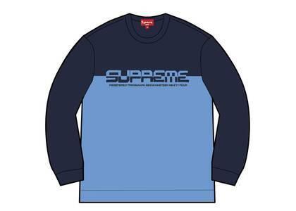 Supreme Split Logo Pullover Navy  (SS21)の写真