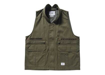 Wtaps Rep Vest Cotton Twill Oliveの写真