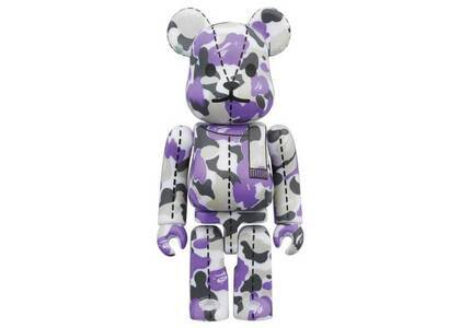 A Bathing Ape × Be@rbrick 28TH Anniversary Bape Camo #1 Purple 100%の写真
