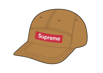 Supreme Mesh Seersucker Camp Cap Tan (SS21)の写真