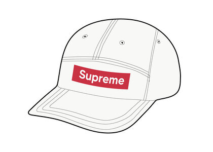 Supreme Mesh Seersucker Camp Cap White (SS21)の写真
