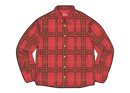 Supreme Spray Tartan Shirt Red (SS21)の写真