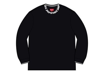 Supreme Old English Collar Logo L/S Top Black (SS21)の写真