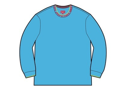 Supreme Old English Collar Logo L/S Top Cyan (SS21)の写真
