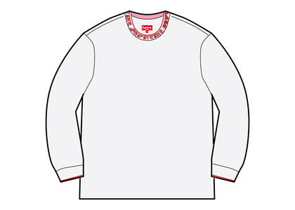 Supreme Old English Collar Logo L/S Top White (SS21)の写真