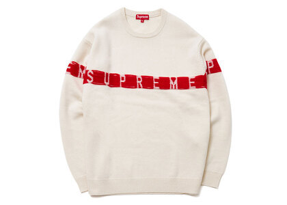 Supreme Inside Out Logo Sweater White (SS21)の写真
