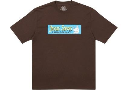 Palace Jesus Saves T-Shirt Brown (SS21)の写真